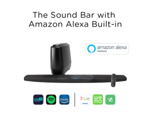Command Bar barra de sonido de Polk audio  con control por voz  Amazon Alexa