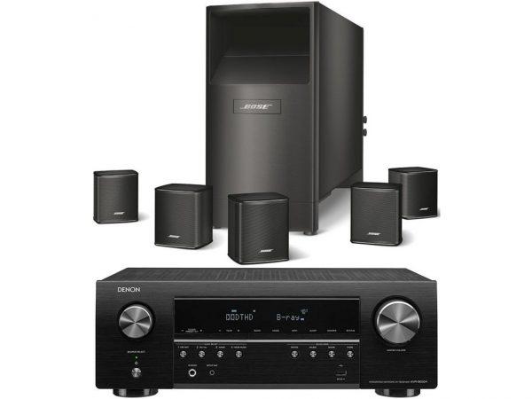 DENON AVR-S650+Bose AM-6V Negros
