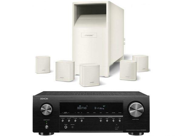 DENON AVR-S650+Bose AM-6V BLANCO