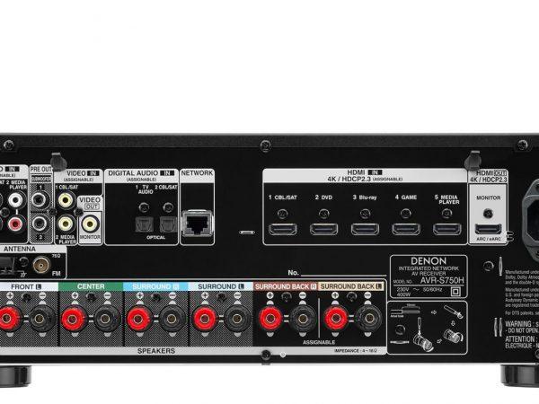 DENON  AVR-S750+Bose AM-6V Negros