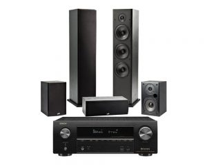 DENON AVR X1600 N +POLK AUDIO  1  SIS T50 N + 1 T30 N + 2  T15 N + HTS10 N