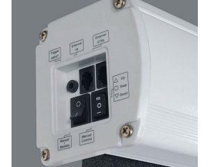 Pantalla electrica tensionada de Optoma DE1123ETT Tipo 16:10 de 123″ pulgadas.